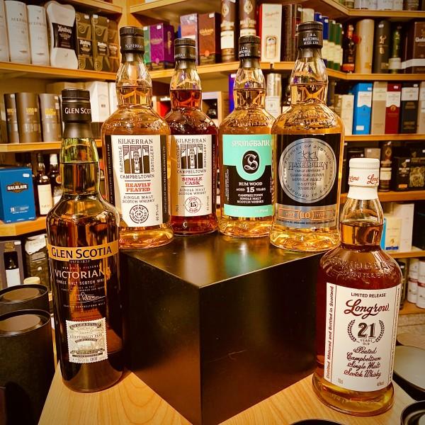 Flaschen für das Tara Whisky-Tasting am 15.2.2020